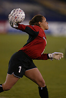 New York Power goal Keeper Saskia Webber clears a ball during the Power's home opener at Mitchell Atletic Complex on April 27. The Power lost to the Philadelphia Charge 2-1.