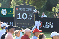 Bernd Wiesberger (AUT) during the second round of the Turkish Airlines Open, Montgomerie Maxx Royal Golf Club, Belek, Turkey. 08/11/2019<br /> Picture: Golffile | Phil INGLIS<br /> <br /> <br /> All photo usage must carry mandatory copyright credit (© Golffile | Phil INGLIS)