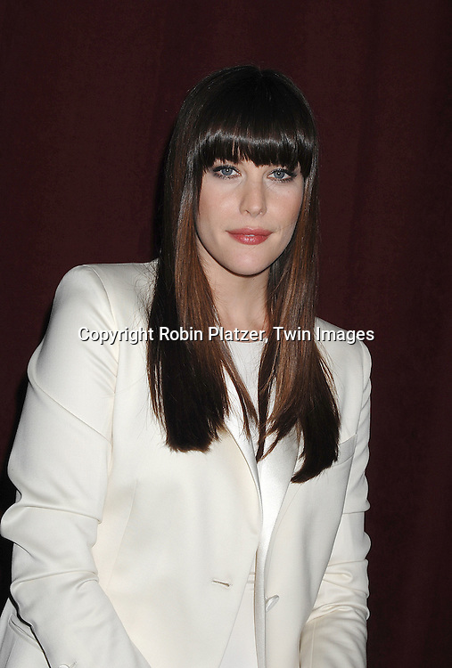 Liv Tyler ..arriving at The 7th on Sale Black Tie Gala Dinner on ..November 15, 2007 at The 69th Regiment Armory in New York. The Fashion Industry's Battle Against HIV and AIDS..will benefit...Robin Platzer, Twin Images