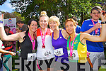 Sarah Monaghan (Tralee) Jeanette Ryan (Castleisland) Tina Donovan (Castleisland) and Siobhan Daly (Castleisland) who took part in the Killarney Women's Mini Marathon on Saturday last.