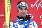 December 1, 2017:  Austria's, Vincent Kriechmayr, on the podium following his victory in the Super G competition during the FIS Audi Birds of Prey World Cup, Beaver Creek, Colorado.