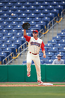 Clearwater Threshers first baseman Kyle Martin (27) during a game against the Daytona Tortugas on April 20, 2016 at Bright House Field in Clearwater, Florida.  Clearwater defeated Daytona 4-2.  (Mike Janes/Four Seam Images)