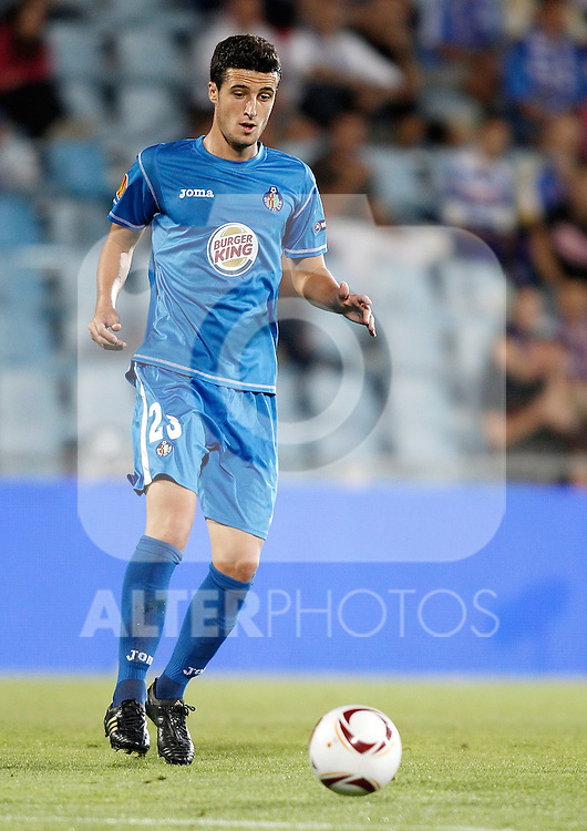 Getafe's Ivan Marcano during Europa League match. September 16, 2010. (ALTERPHOTOS/Alvaro Hernandez)