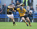 Patjoe Connolly of Ballyea in action against Nicky O Connell of Clonlara  during their senior county final replay at Cusack Park. Photograph by John Kelly.