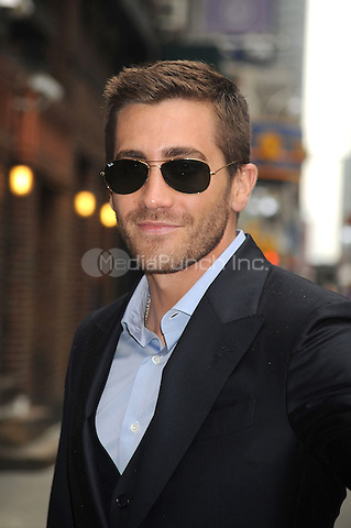 Jake Gyllenhaal visits 'Late Show With David Letterman' at the Ed Sullivan Theater in New York City. May 24, 2010.Credit: Dennis Van Tine/MediaPunch