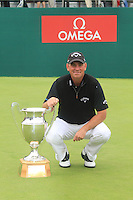 Thomas Bjorn (DEN) winner of the Omega European Masters, Crans-Sur-Sierre, Crans Montana, Switzerland.4/9/11.Picture: Golffile/Fran Caffrey..