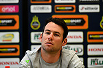 Mark Cavendish (GBR) Team Dimension Data at the top riders press conference on the eve of the race of the two seas, 52nd Tirreno-Adriatico by NamedSport running from the 8th to 14th March, Italy. 7th March 2017.<br /> Picture: La Presse/Fabio Ferrari | Cyclefile<br /> <br /> <br /> All photos usage must carry mandatory copyright credit (&copy; Cyclefile | La Presse)