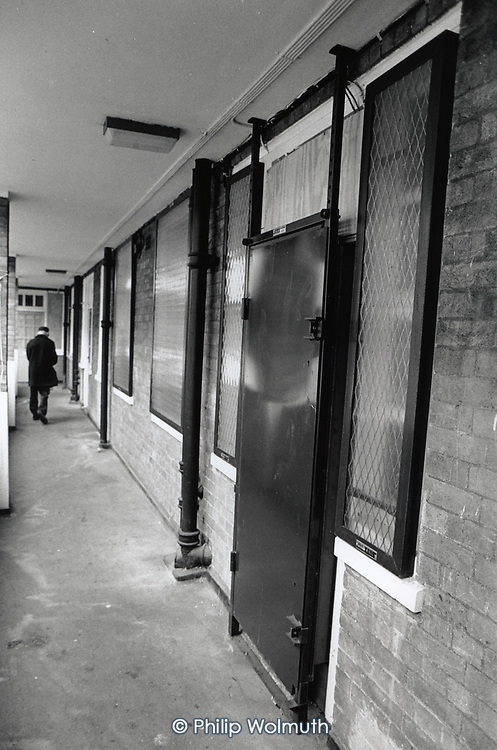 Sealed council flats on the Grosvenor Estate in Pimlico, emptied of tenants as part of the illegal 'Designated Sales' policy of Westminster City Council Leader Dame Shirley Porter.