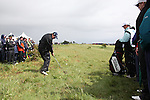 Shane Lowry(AM) playing his second shot from the rough on the first hole at the final round at the 3 Irish open in Co Louth Golf Club...Photo: Fran Caffrey/www.golffile.ie..