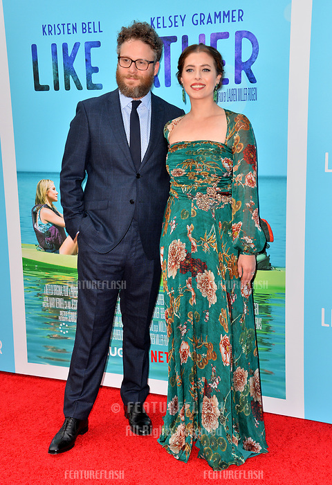 "Seth Rogen & Lauren Miller Rogen at the Los Angeles premiere of ""Like Father"" at the Arclight Theatre, Los Angeles, USA 31 July 2018<br /> Picture: Paul Smith/Featureflash/SilverHub 0208 004 5359 sales@silverhubmedia.com"