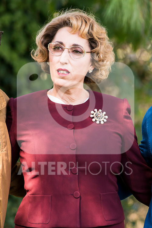 """Rossy de Palma pose to the photographers during the shooting of the spanish film """"Toc Toc"""" in Madrid. October 03, Spain. 2016. (ALTERPHOTOS/BorjaB.Hojas)"""