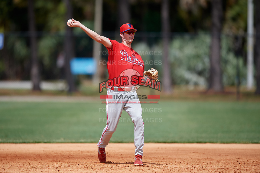 Philadelphia Phillies McCarthy Tatum (3) during an Instructional League game against the Detroit Tigers on September 19, 2019 at Tigertown in Lakeland, Florida.  (Mike Janes/Four Seam Images)