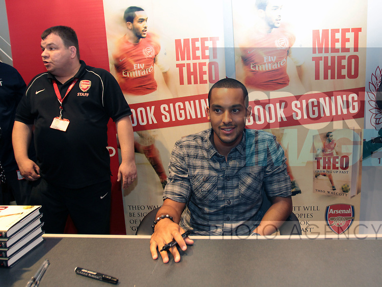 Arsenals Theo Walcott at his book signing