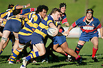 Kane Hancy makes one of his telling runs from the base of a scrum with Haani Hala'eua in support.McNamara Cup final - Premier 1 Championship, Patumahoe v Ardmore Marist. Patumahoe won 13 - 6. Counties Manukau club rugby finals played at Growers Stadium, Pukekohe, 24th of June 2006.