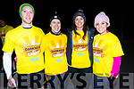 Taking part in Darkness into Light Tralee was <br /> Left to right Joseph Sheehan (Kenmare), Karen Lawlor, Jennifer Costello and Tauswef Haq from Tralee.