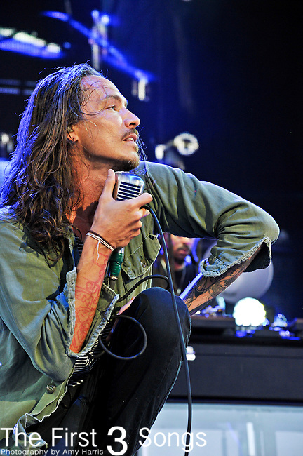 Brandon Boyd of Incubus performs at the Klipsch Music Center in Indianapolis, Indiana.