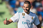 Karim Benzema of Real Madrid celebrates after scoring his goal during the La Liga 2017-18 match between Getafe CF and Real Madrid at Coliseum Alfonso Perez on 14 October 2017 in Getafe, Spain. Photo by Diego Gonzalez / Power Sport Images