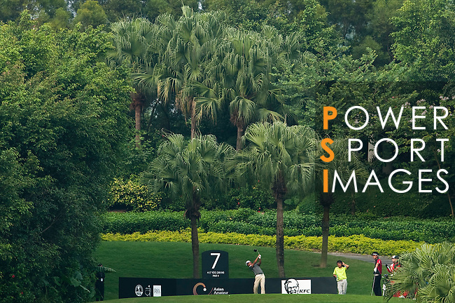 SHENZHEN, CHINA - OCTOBER 30: Poom Saksansin of Thailand during the day two of Asian Amateur Championship at the Mission Hills Golf Club on October 30, 2009 in Shenzhen, Guangdong, China.  (Photo by Victor Fraile/The Power of Sport Images) *** Local Caption *** Poom Saksansin