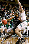 SIOUX FALLS, SD: MARCH 23: Trevon Shaw #14 from Lincoln Memorial drives into Brett Dougherty #32 from Northwest Missouri State during the Men's Division II Basketball Championship Tournament on March 23, 2017 at the Sanford Pentagon in Sioux Falls, SD. (Photo by Dave Eggen/Inertia)