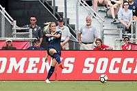 Cary, North Carolina  - Sunday May 21, 2017: Abby Dahlkemper during a regular season National Women's Soccer League (NWSL) match between the North Carolina Courage and the Chicago Red Stars at Sahlen's Stadium at WakeMed Soccer Park. Chicago won the game 3-1.