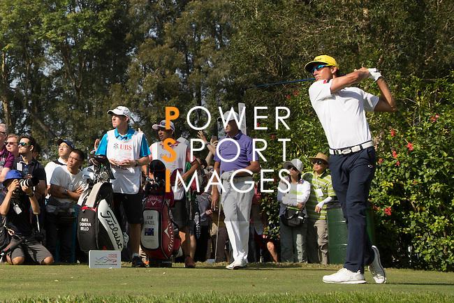 Rafael Cabrera Bello of Spain tees off during the 58th UBS Hong Kong Golf Open as part of the European Tour on 11 December 2016, at the Hong Kong Golf Club, Fanling, Hong Kong, China. Photo by Vivek Prakash / Power Sport Images