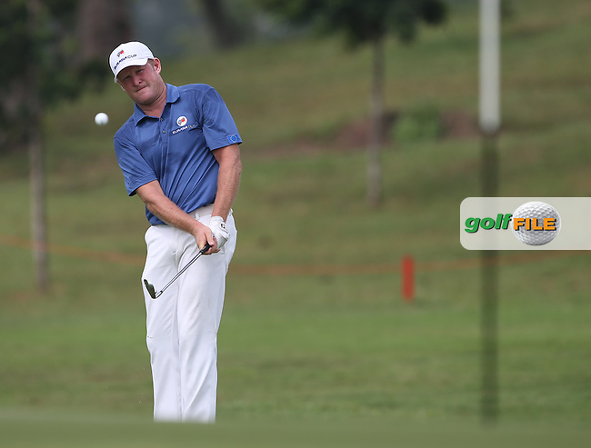 Team Europe's Jamie Donaldson (WAL) steams through front nine 4 up during the final day of Singles matches at the 2014 EurAsia Cup presented by DRB-Hicom, at the Glenmarie Golf & Country Club, Kuala Lumpur, Malaysia. Picture:  David Lloyd / www.golffile.ie