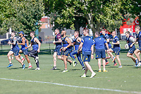 Picture by Brendon Ratnayake/SWpix.com - 14/02/2018 - Rugby League - Dacia World Club Challenge - Melbourne Storm v Leeds Rhinos - Gosch's Paddock, Melbourne, Australia - Leeds Rhinos players training.