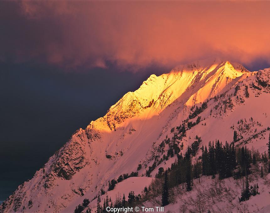 Spring Sunrise on Superior Peak, Twin Peaks Wilderness, Utah     Wasatch/Cache National Forest