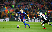 7th January 2018, Camp Nou, Barcelona, Spain; La Liga football, Barcelona versus Levante; Iniesta from FC Barcelona running with the ball into Levante area