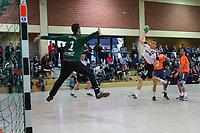 Tom Friedrich (Crumbach/Goddelau) setzt sich durch und wirft gegen Marc Bockard (Erfelden) - 12.03.2017: ESG Crumstadt/Goddelau vs. ESG Erfelden, Sporthalle Martin-Niemöller Schule
