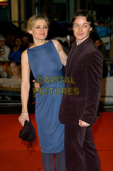 "ANNE-MARIE DUFF & JAMES McAVOY.""Becoming Jane"" World Premiere, Odeon West End, .London, England, March 4th 2007..half length anne marie blue dress tights see through thru sheer boobs breasts nipples couple.CAP/CAN.©Can Nguyen/Capital Pictures"