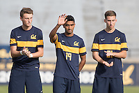 BERKELEY, CA - October 13, 2016: Aravind Sivakumar waves during introductions. Cal played UCLA at Edwards Stadium.