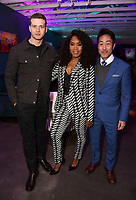 LOS ANGELES, CA - FEBRUARY 6:  L-R: 9-11 cast members Oliver Stark, Angela Bassett and Kenneth Choi attends the FOX Winter TCA 2019 All Star Party at The Fig House on February 6, 2019 in Los Angeles, California. (Photo by Frank Stewart Cook/Fox/PictureGroup)
