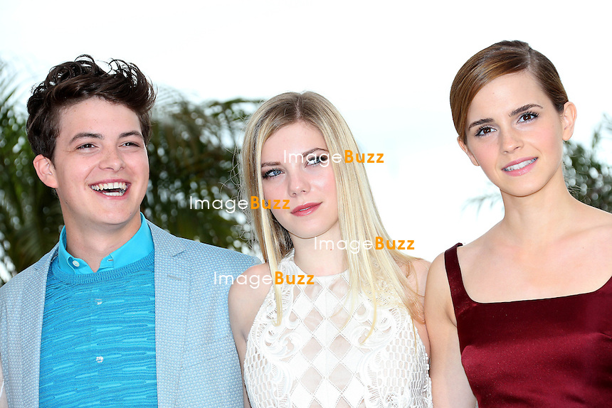 CPE/Actresses Emma Watson, Claire Julien, Director Sofia Coppola, actor Israel Broussard, actresses Taissa Fariga and Katie Chang attend 'The Bling Ring' photocall during the 66th Annual Cannes Film Festival at Palais des Festival on May 16, 2013 in Cannes, France.