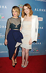 WEST HOLLYWOOD, CA - MAY 27: Actresses Rachel McAdams (L) and Emma Stone attend the 'Aloha' Los Angeles premiere at The London Hotel West Hollywood on May 27, 2015 in West Hollywood, California.