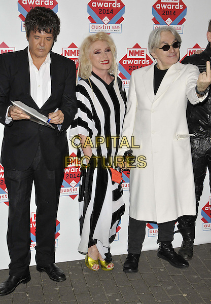 LONDON, ENGLAND - FEBRUARY 26: Debbie Harry &amp; Blondie attend the NME Awards 2014, O2 Academy Brixton, Stockwell Rd., on Wednesday February 26, 2014 in London, England, UK.<br /> CAP/CAN<br /> &copy;Can Nguyen/Capital Pictures
