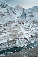 The village of Kret overlooked by the peak of Koh-e-Baba Tangi (6515m) is in the upper Kezget Valley. Driving up from Ishkashim town to Sarhad village, the end of the road in the Wakhan corridor.