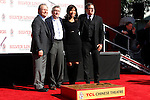 LOS ANGELES, CA - FEB 4: Billy Crystal, Robert De Niro, wife Grace Hightower, David O Russell at a ceremony where Robert De Niro is honored with hand and foot prints at TCL Chinese Theater on February 4, 2013 in Los Angeles, California