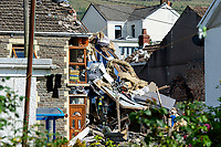 2020 06 24 Gas explosion Seven Sisters, Neath Port Talbot, Wales, UK.