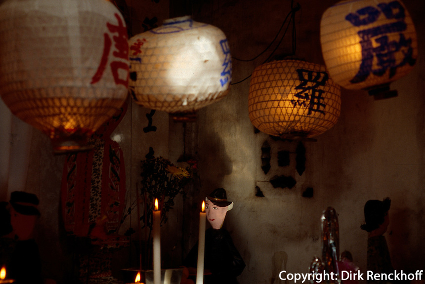 China, Macao, Kun Iam-Tempel, Totenopfer