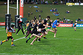 Mitre 10 Cup rugby game between Counties Manukau Steelers and Taranaki Bulls, played at Navigation Homes Stadium, Pukekohe on Saturday August 10th 2019. Taranaki won the game 34 - 29 after leading 29 - 19 at halftime.<br /> Photo by Richard Spranger.