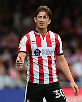 Lincoln City's Alex Woodyard<br /> <br /> Photographer Chris Vaughan/CameraSport<br /> <br /> The EFL Sky Bet League Two Play Off First Leg - Lincoln City v Exeter City - Saturday 12th May 2018 - Sincil Bank - Lincoln<br /> <br /> World Copyright &copy; 2018 CameraSport. All rights reserved. 43 Linden Ave. Countesthorpe. Leicester. England. LE8 5PG - Tel: +44 (0) 116 277 4147 - admin@camerasport.com - www.camerasport.com