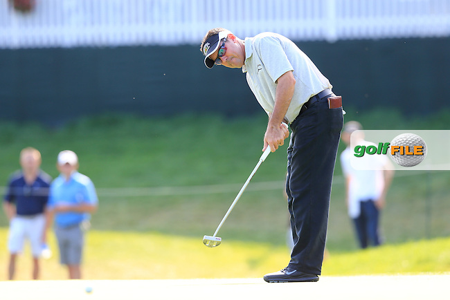 Rich Beem (USA) putts on the 6th green during Thursday's Round 1 of the 95th US PGA Championship 2013 held at Oak Hills Country Club, Rochester, New York.<br /> 8th August 2013.<br /> Picture: Eoin Clarke www.golffile.ie