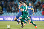 Getafe's Stefan Scepovic (l) and Sociedad Deportiva Eibar's Dani Garcia during La Liga match. March 18,2016. (ALTERPHOTOS/Acero)