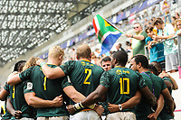 Team of South Africa  during the match between South Africa and Spain at the HSBC Paris Sevens, stage of the Rugby Sevens World Series at Stade Jean Bouin on June 10, 2018 in Paris, France. (Photo by Sandra Ruhaut/Icon Sport)