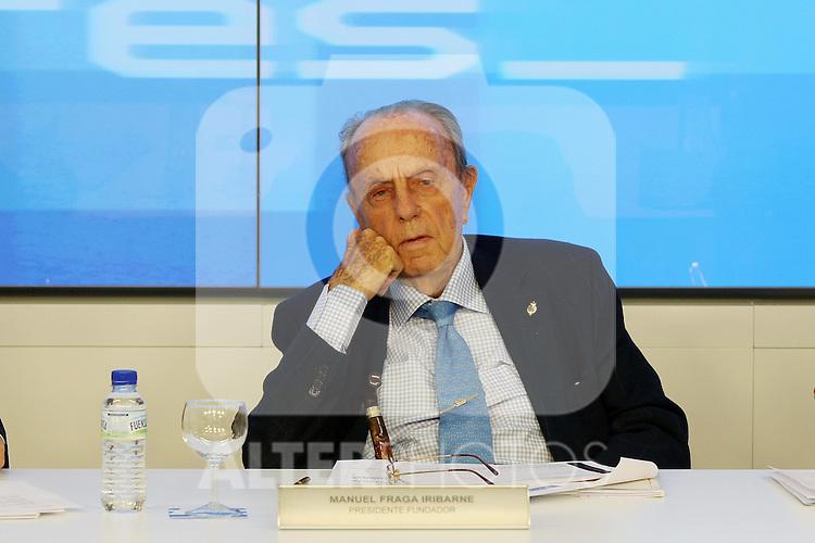 Manuel Fraga durante el Comite Ejecutivo Nacional del PP..(ALTERPHOTOS/Acero).