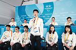 Yoshihiro Nitta (JPN), MARCH 8, 2018 : Japanese Nordic Skiing team Press Conference at Paralympic Village during the PyeongChang 2018 Paralympics Winter Games in Pyeongchang, South Korea. (Photo by Sho Tamura/AFLO SPORT)