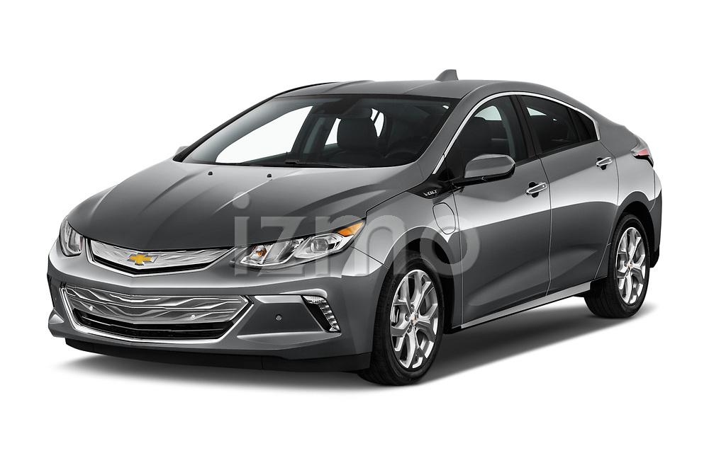 2016 Chevrolet Volt Premier 5 Door Hatchback Angular Front stock photos of front three quarter view
