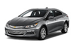 2016 Chevrolet Volt Premier 5 Door Hatchback Angular Front stock photos of front three quarter view