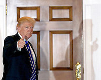 United States President-elect Donald Trump returns to the clubhouse of Trump International Golf Club, November 19, 2016 in Bedminster Township, New Jersey. <br /> Credit: Aude Guerrucci / Pool via CNP /MediaPunch